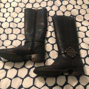 Tory Burch Knee High Black Boots. 8